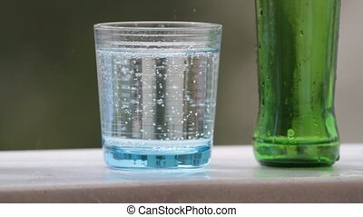 Mineral water - Cold, bubbly mineral water