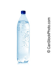 mineral water in bottle isolated on a white background...