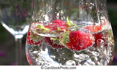 Mineral Water with Strawberries