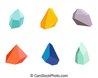 Minerals Collection Poster Vector Illustration