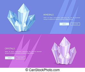 Minerals Crystals Web Posters Online Push Buttons