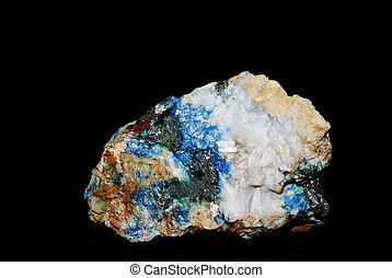 minerals malachite pyrite and quartz