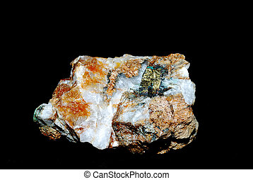 minerals with pyrite and quartz