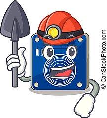 minero, clings, pared, mascota, sensor, tacto