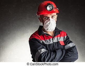 minero de carbón, respirador