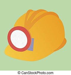 miner's, capacete, segurança