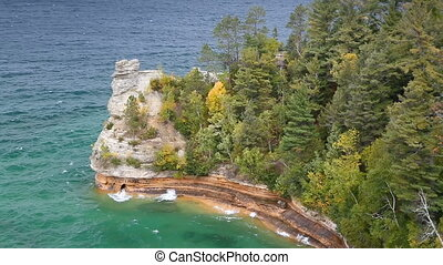 Miners Castle on Lake Superior Loop - Looping video features...