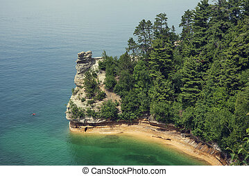 Miners Castle rock formation .