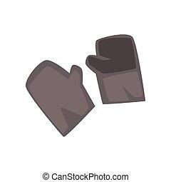 miner's, ochronne rękawiczki, rysunek