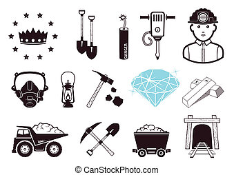 Miners set, icons