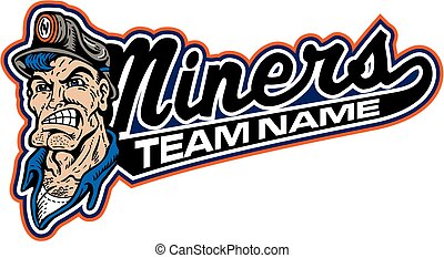 miners team design with mascot head