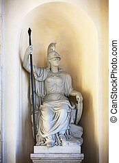 Minerva Brandenburg Gate Berlin - the goddess Minerva...