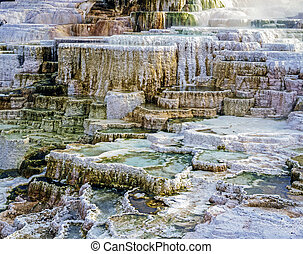 Minerva Terrace, Mammoth Hot Springs, Yellowstone National...