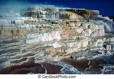 Minerva Terrace in Mammoth Hot Springs, Wyoming