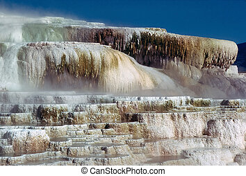 Minerva Terrace at Mammoth Hot Springs, Wyoming