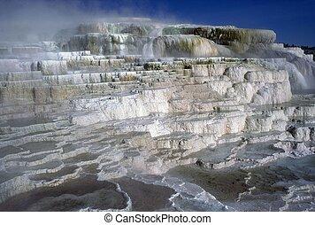 Minerva Terrace, Yellowstone National Park, Wyoming