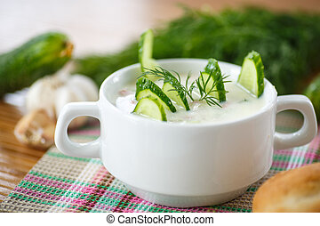minestra, cetriolo