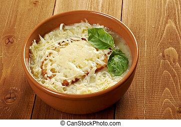 minestra cipolla, francese