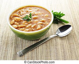 minestra, fagiolo