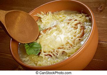 minestra, francese, cipolla