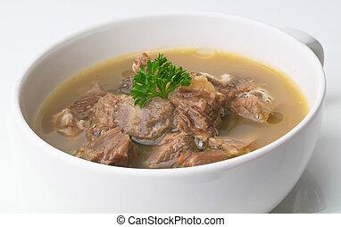 minestra, montone, kambing, minestra