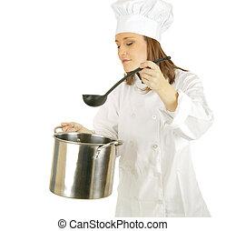 minestra, scegliere, salsa, su, o