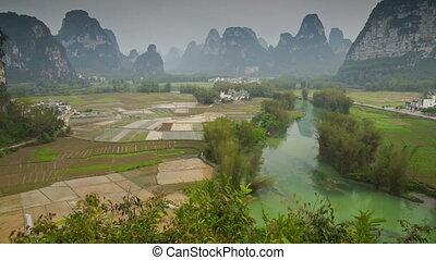 Mingshi Scenic Area landscape slider timelapse