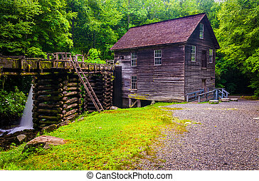 Mingus Mill, Great Smoky Mountains National Park, North ...