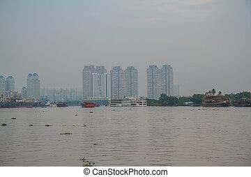 minh , chi , city., ho , λιμάνι