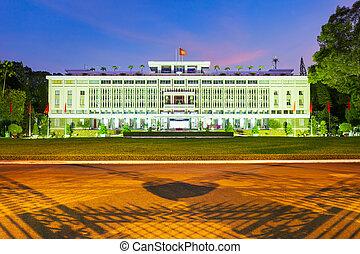 minh, chi, palacio, ho, independencia