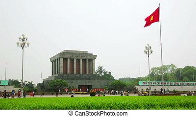 minh, mausolée, chi, hanoï, ho, vietnam