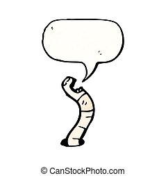 minhoca, caricatura