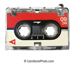 Mini Audio Cassette For Fax / Type Recorder, Isolated,...