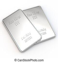 mini, barras, -, 1, 2, onza, plata