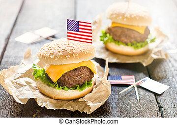 Mini beef burgers