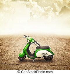 mini, bicicleta, crianças, motor