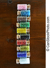 Mini bottles with beads