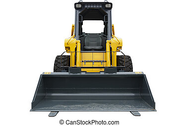 Mini bulldozer isolated on white
