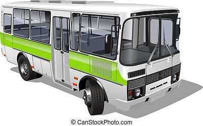 mini-bus, 乗客, 郊外