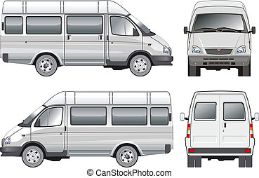 mini bus Available EPS-8 vector format separated by groups for easy edit