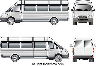 mini-bus, passagier, stratch