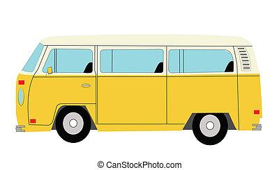 mini bus - popular van from sixties and seventies