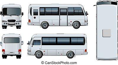 mini-bus, urbano, vetorial, giga, passageiro