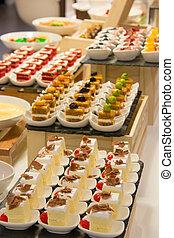 Mini cake on the table