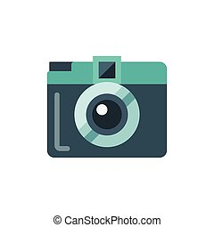 Mini camera flat isolated vector icon illustration