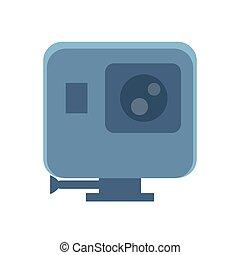 Mini Camera of Grey Color Vector Illustration