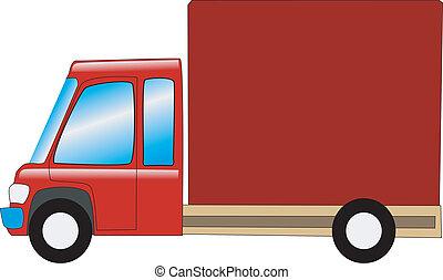 mini, camion