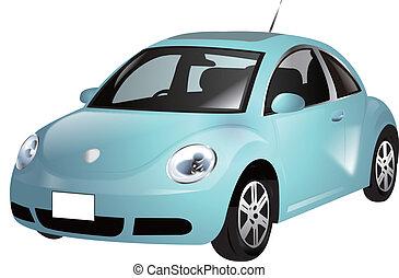 mini blue car