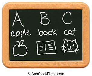 mini, -, chalkboard, child\\\\\\\'s, o2