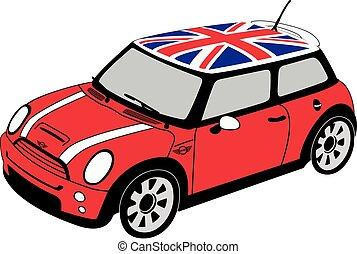 Mini Cooper with British Flag